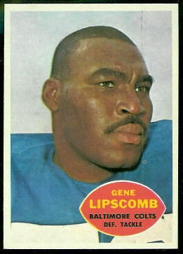 Gene Lipscomb 1960 Topps football card