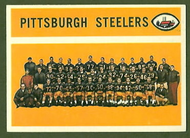 Pittsburgh Steelers Team 1960 Topps football card