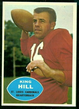 King Hill 1960 Topps football card