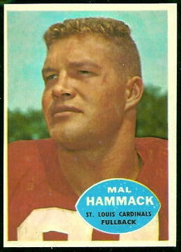 Mal Hammack 1960 Topps football card