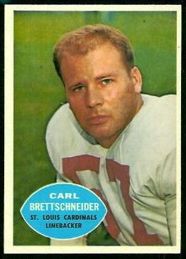 Carl Brettschneider 1960 Topps football card