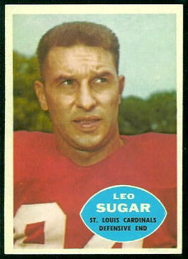 Leo Sugar 1960 Topps football card