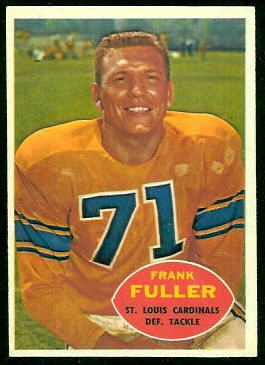 Frank Fuller 1960 Topps football card
