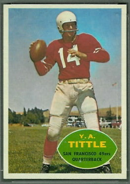 Y.A. Tittle 1960 Topps football card