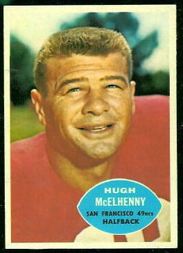 Hugh McElhenny 1960 Topps football card