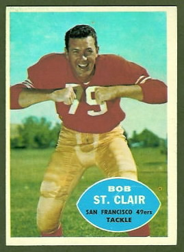 Bob St. Clair 1960 Topps football card