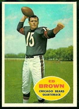 Ed Brown 1960 Topps football card
