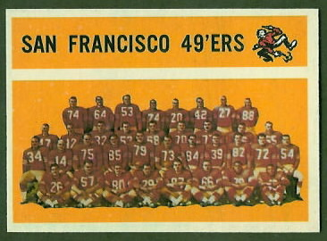 San Francisco 49ers Team 1960 Topps football card