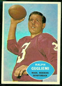 Ralph Guglielmi 1960 Topps football card