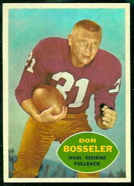 Don Bosseler 1960 Topps football card