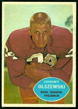 John Olszewski 1960 Topps football card