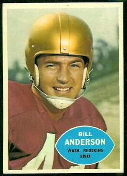 Bill Anderson 1960 Topps football card