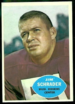 Jim Schrader 1960 Topps football card
