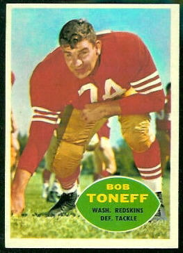 Bob Toneff 1960 Topps football card