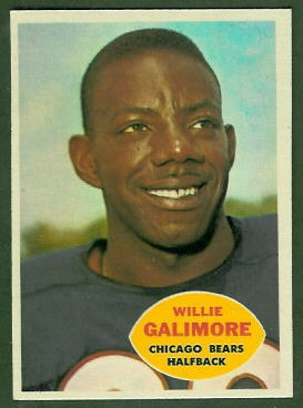 Willie Galimore 1960 Topps football card