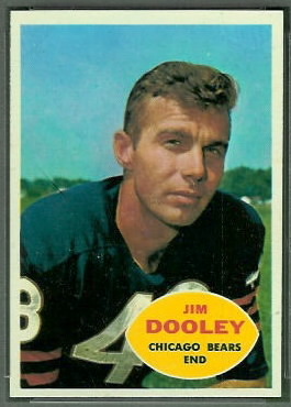 Jim Dooley 1960 Topps football card