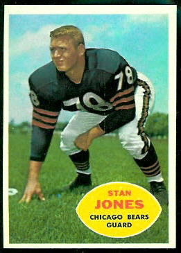 Stan Jones 1960 Topps football card