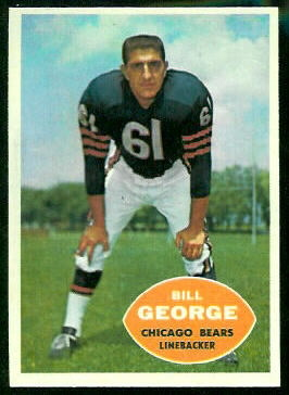 Bill George 1960 Topps football card
