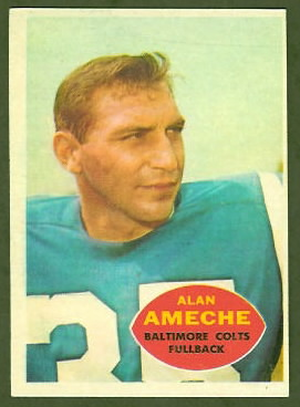 Alan Ameche 1960 Topps football card