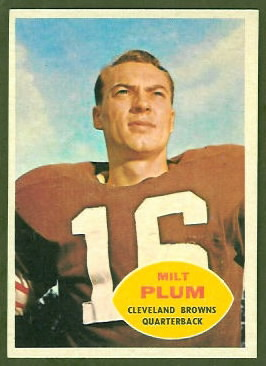 Milt Plum 1960 Topps football card