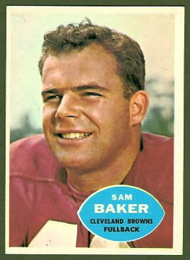 Sam Baker 1960 Topps football card