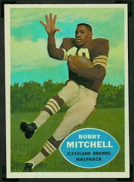 Bobby Mitchell 1960 Topps football card