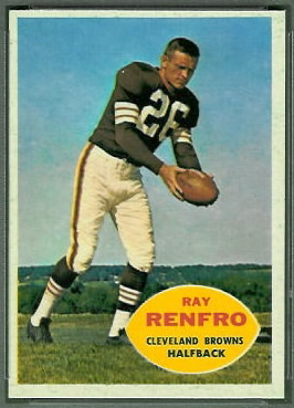 Ray Renfro 1960 Topps football card
