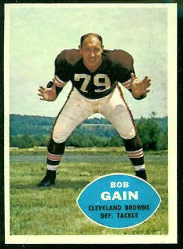 Bob Gain 1960 Topps football card