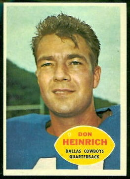 Don Heinrich - 1960 Topps #32 - Vintage Football Card Gallery