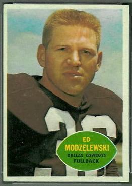 Ed Modzelewski 1960 Topps football card