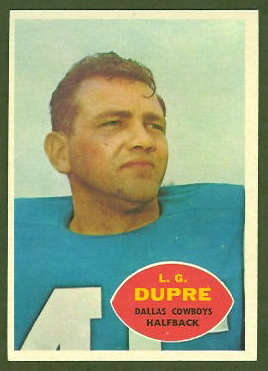 L.G. Dupre 1960 Topps football card