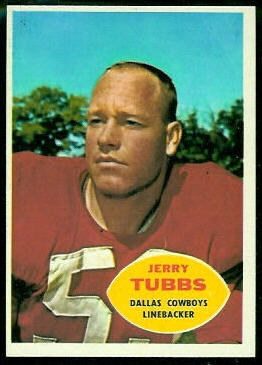 Jerry Tubbs 1960 Topps football card