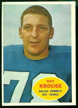 Ray Krouse 1960 Topps football card