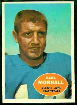Earl Morrall 1960 Topps football card