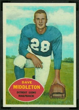 Dave Middleton 1960 Topps football card