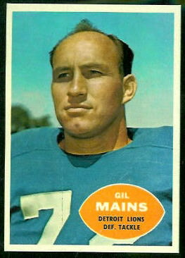 Gil Mains 1960 Topps football card