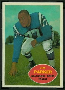 Jim Parker 1960 Topps football card