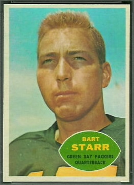 Bart Starr 1960 Topps football card