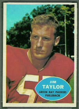 Jim Taylor 1960 Topps football card