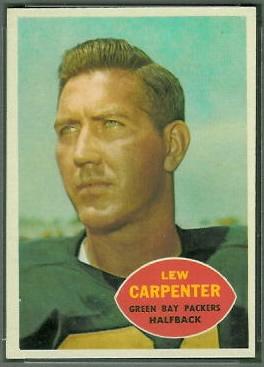 Lew Carpenter 1960 Topps football card