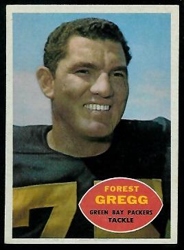 Forrest Gregg 1960 Topps football card