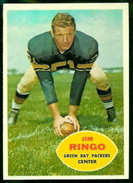 Jim Ringo 1960 Topps football card