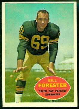 Bill Forester 1960 Topps football card