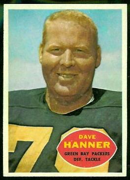 Dave Hanner 1960 Topps football card