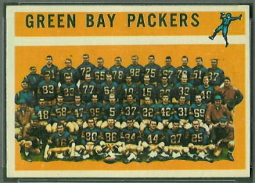 Green Bay Packers Team 1960 Topps football card