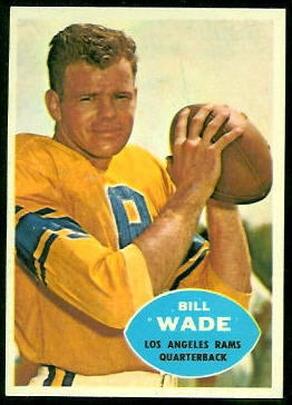 Bill Wade 1960 Topps football card