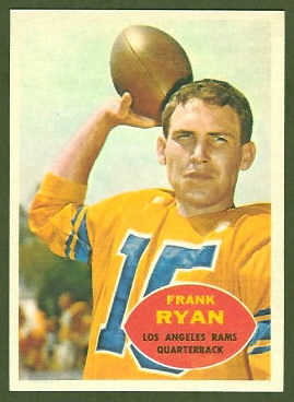 Frank Ryan 1960 Topps football card