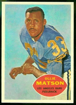 Ollie Matson 1960 Topps football card
