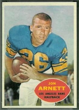 Jon Arnett 1960 Topps football card