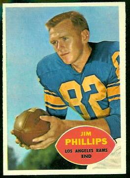 Jim Phillips 1960 Topps football card